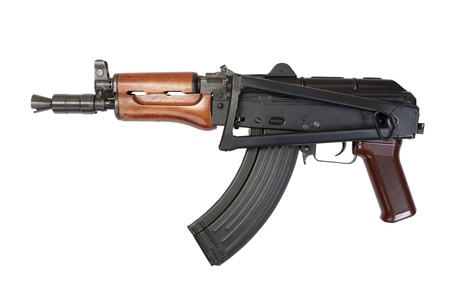 kalashnikov isolated on a white background photo