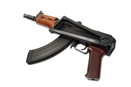 kalashnikov aks74u isolated on a white background photo
