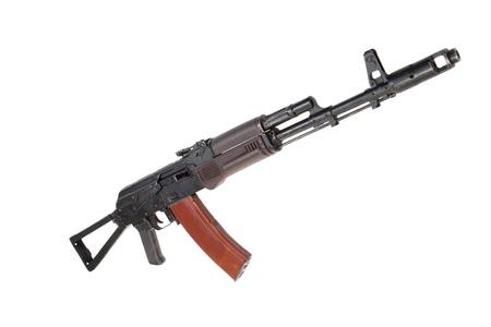 kalashnikov paratrooper aks74 assault rifle isolated on a white background photo