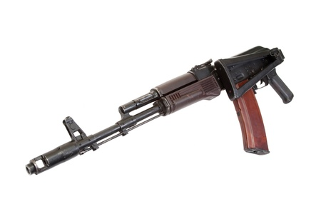 kalashnikov paratrooper aks74 assault rifle isolated on a white background photo