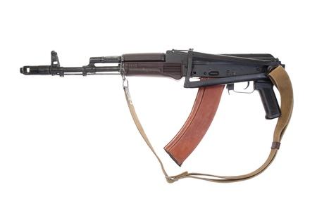 kalashnikov airborne assault rifle ak74 isolated on a white background photo