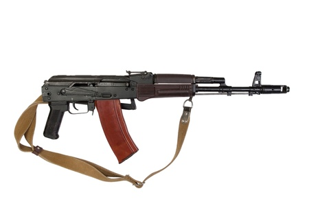 kalashnikov assault rifle aks-74 para isolated on a white background photo