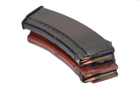 ak 74: rifle magazins with ammo Stock Photo