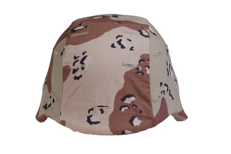 kevlar: us army kevlar helmet with a desert camouflage cover