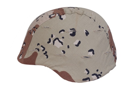 kevlar: us marines kevlar helmet with a desert camouflage cover Stock Photo