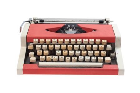 Retro typewriter  isolated on white background Stock Photo - 19956468