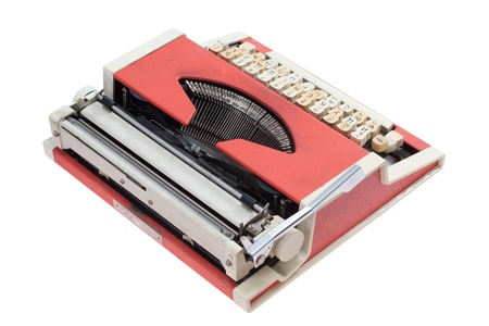 Retro typewriter isolated on white background Stock Photo - 19956494