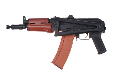 airborne version of kalashnikov assault rifle isolated on a white background photo