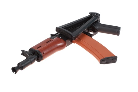 short kalashnikov aks74u isolated on a white background photo