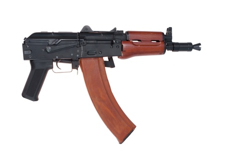 kalashnikov aks74u with machine-gun shop isolated on a white background Stock Photo - 19950750