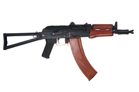 laden: kalashnikov aks74u  usama bin laden style isolated on a white background Stock Photo