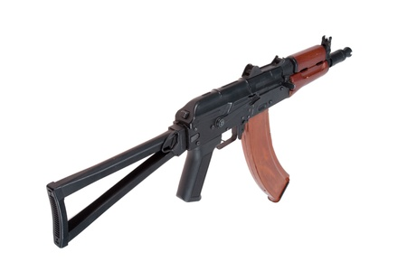 kalashnikov aks74u speznaz isolated on a white background photo