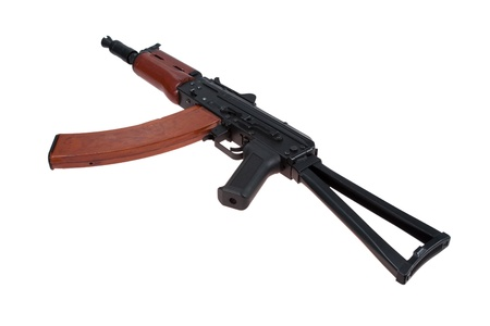 kalashnikov aks74u isolated on a white background Stock Photo - 19950439