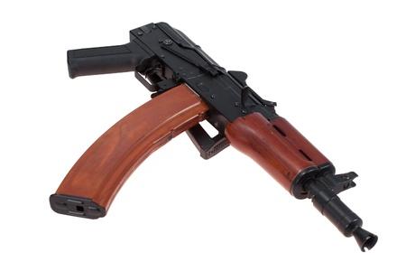 airborne version of kalashnikov rifle isolated on a white background photo