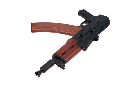 kalashnikov aks74u isolated on a white background Stock Photo - 19950529