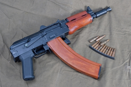 short  kalashnikov with ammo clip Stock Photo - 19956625