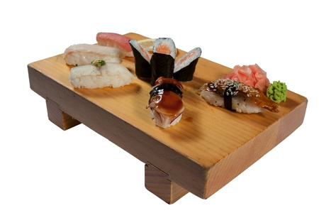 deluxe: Deluxe Sushi Combination isolated on white background