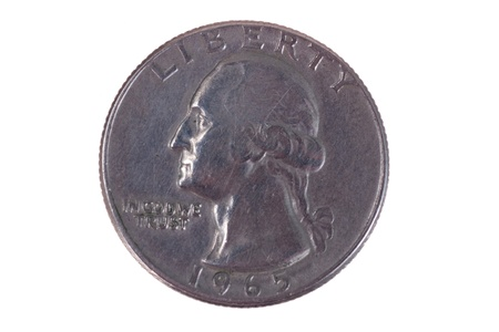 five cents: The American coin in twenty five cents - quarter dollar, 1965