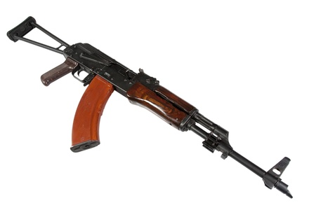kalashnikov akm isolated on a white background photo
