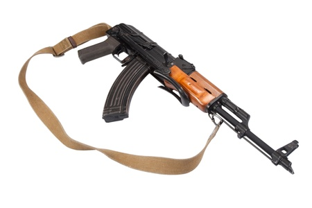 Kalashnikov AK47 isolated on white 免版税图像