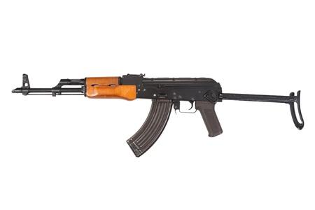 akm: Kalashnikov AKM isolated on white