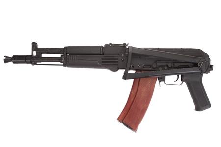 Kalashnikov AK105 modern assault rifle on white photo