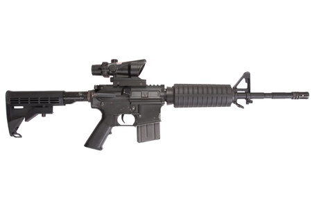 Colt M4A1 isolated on a white background Banque d'images