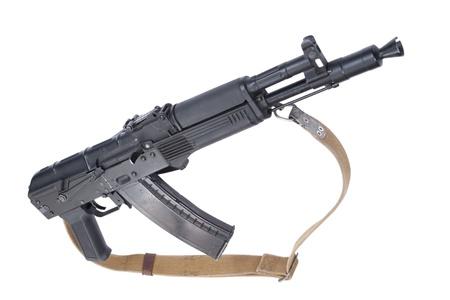 Kalashnikov AK105 assault rifle on white photo