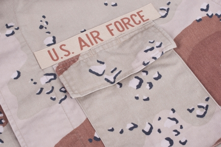 us air force: camouflaged us air force uniform