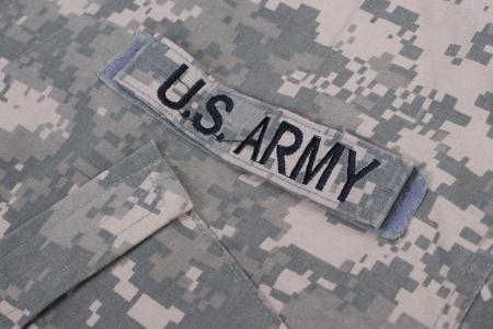 army camo: US army uniform Editorial