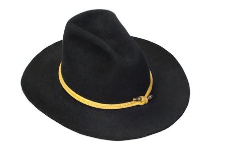 civil war: US Cavalry black hat isolated
