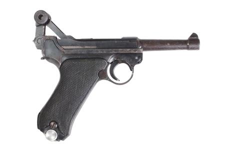 luger:  Luger P08 Parabellum handgun isolated