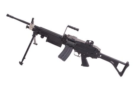 infantry: modern infantry machinegun isolated Stock Photo
