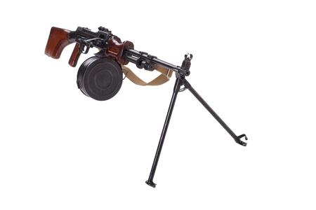 machine-gun: geïsoleerd Sovjetleger machinegeweer RPD Stockfoto