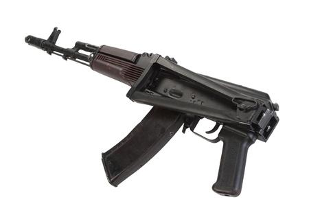 kalashnikov assault rifle aks74 isolated on a white background photo