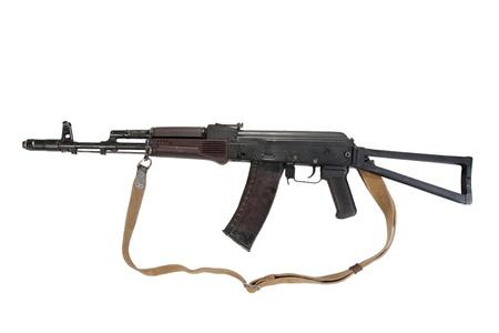 kalashnikov airborne assault rifle aks74 isolated on a white background photo