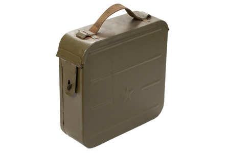 munition: russian ammo case on white background