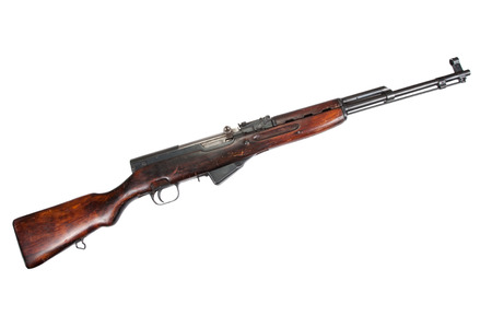 Soviet semi-automatic carbine SKS  Stock Photo