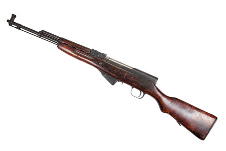 carbine: Soviet semi-automatic carbine SKS  Stock Photo