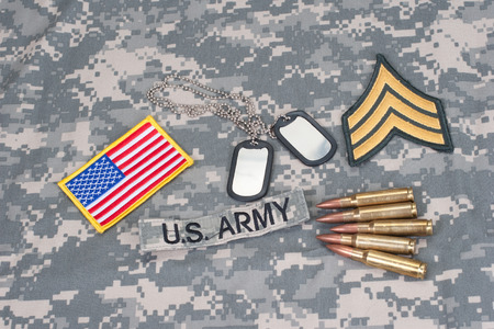 US ARMY concept with camouflage uniform photo