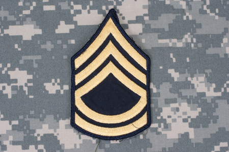 sergeant: us army uniform with sergeant rank patch Stock Photo