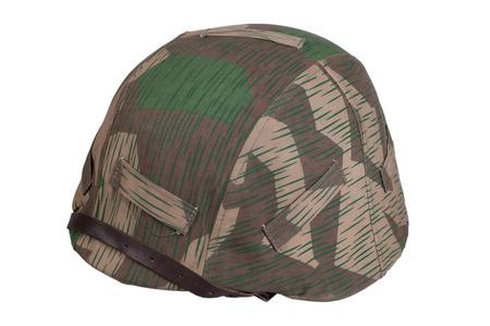 camouflaged: camouflaged nazi german helmet