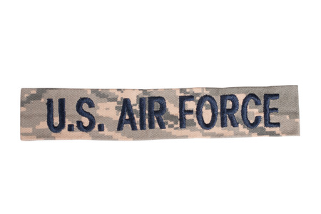 us air force: US AIR FORCE uniform badge Stock Photo