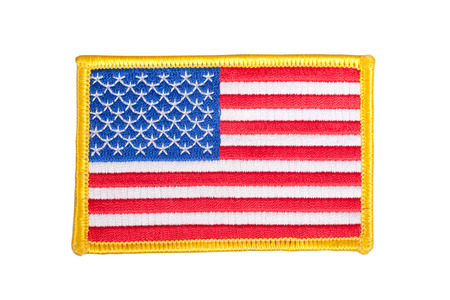 US FLAG  uniform badge 免版税图像