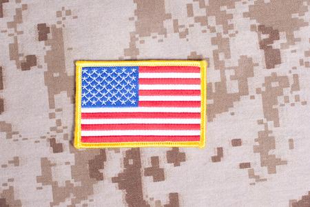 US MARINES concept on camouflage uniform Banque d'images