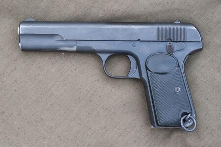 retro Browning hand gun Stock Photo