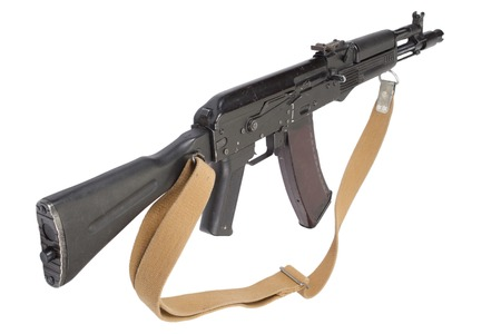 airborn: russian AK assault rifle on white