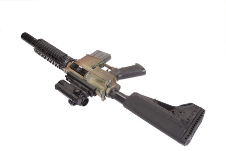 M4 CQB rifle isolated on a white background photo