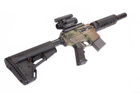 gunsight: M4 CQB rifle isolated on a white background