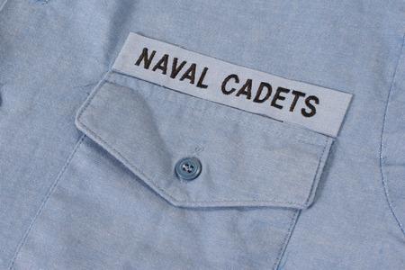 cadet blue: us naval cadets uniform Stock Photo